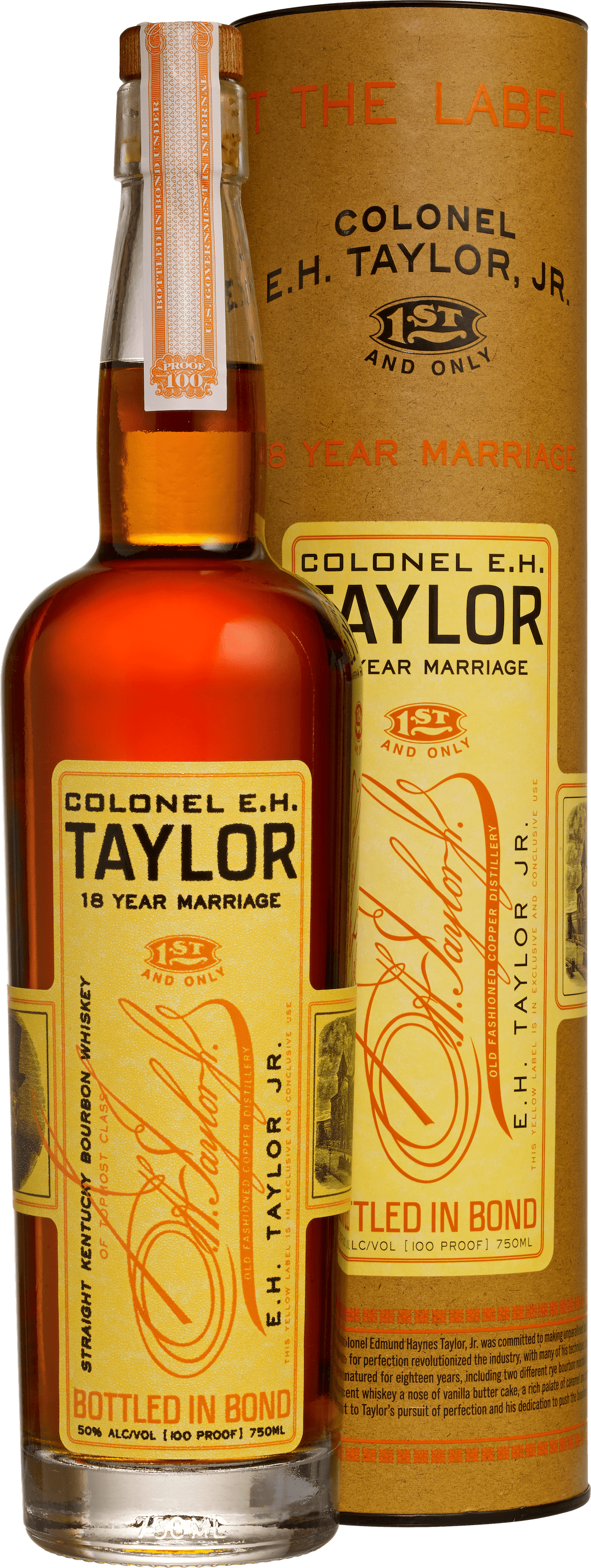 EH Taylor 18yr Marriage bottle with canister