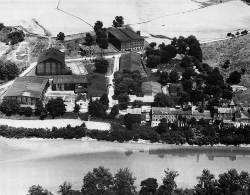 Download Aerial view of Buffalo Trace Distillery during Prohibition